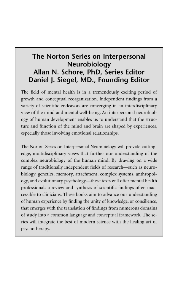 The Norton Series on Interpersonal Neurobiology